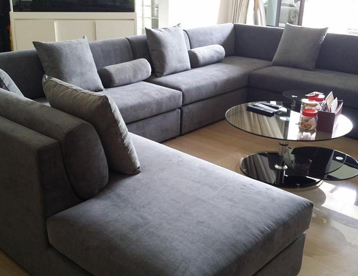 u shape sofa